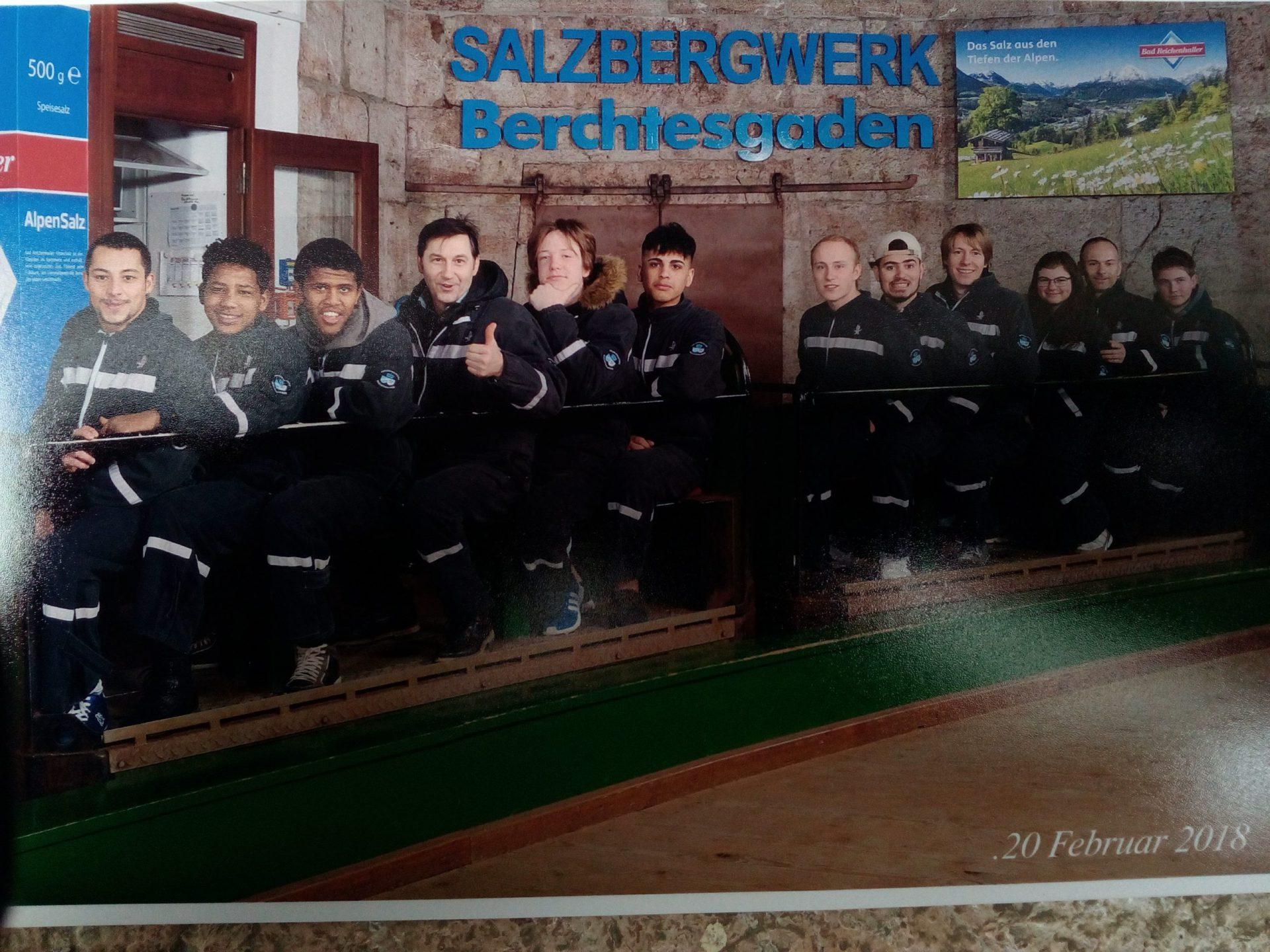 Lehrgang der angehenden Köche ins Salzbergwerk Bad Reichenhall