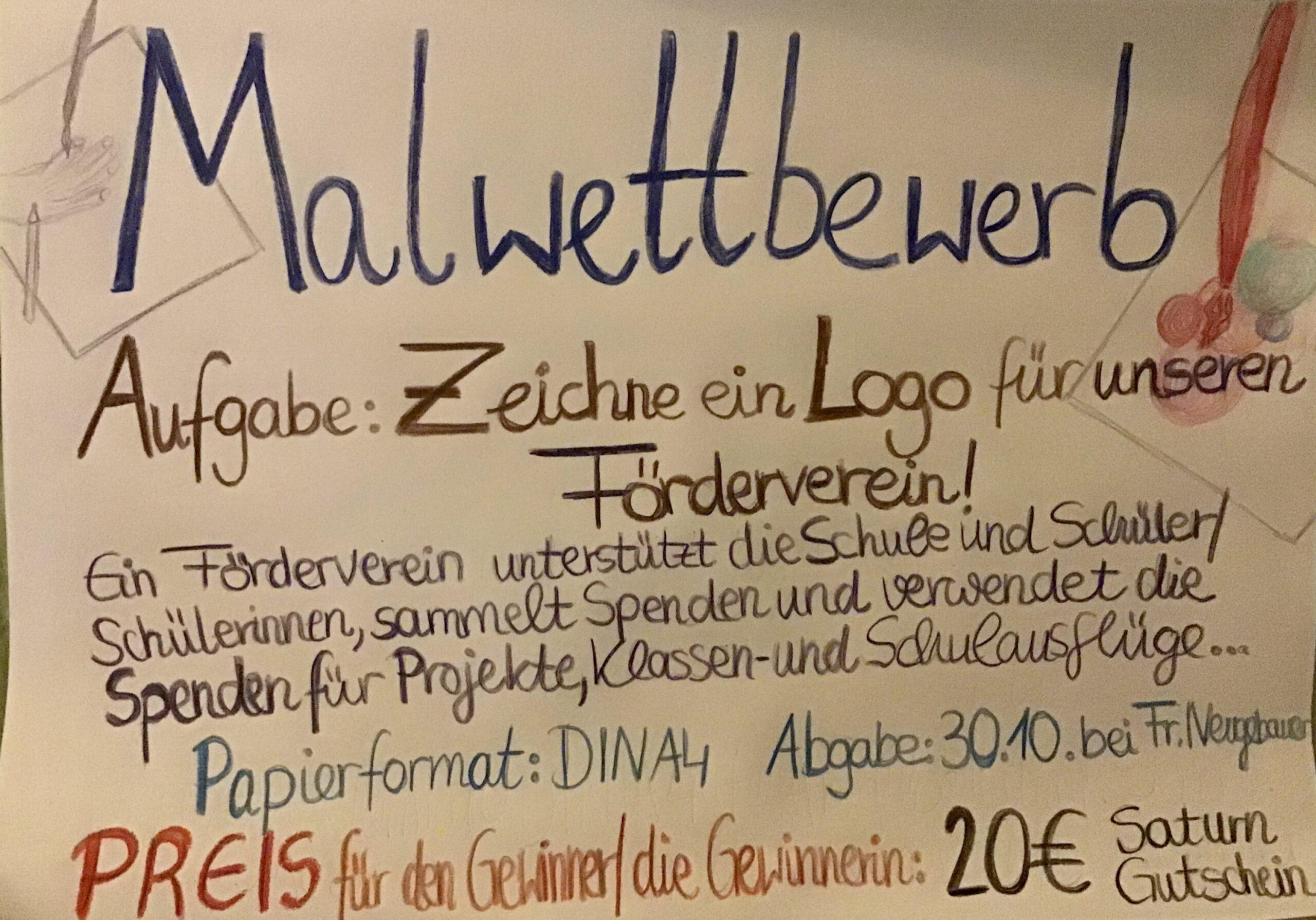 Malwettbewerb des Fördervereins Förderschulen Birkeneck e.V.